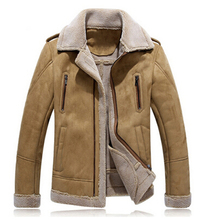2016Men PU Leather Winer Jacket And Coats Thick Snow Warm Fleece Velvet Motorcycle Parkas Brand Slim Fit Casual Outerwear (China (Mainland))
