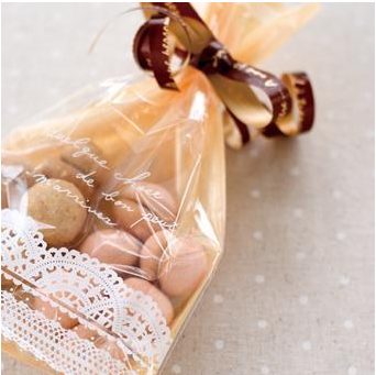 500pcs 25*15cm lace yellow plastic bags open up cookie bag jewelry packings zakka gift packagings ZH0043(China (Mainland))