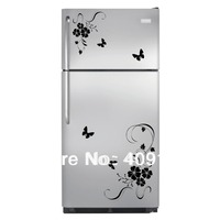 Butterfly Flower Wall Art Stickers Wall Decal Kitchen Refrigerator Home Decor Decoration hot sale freeshipping
