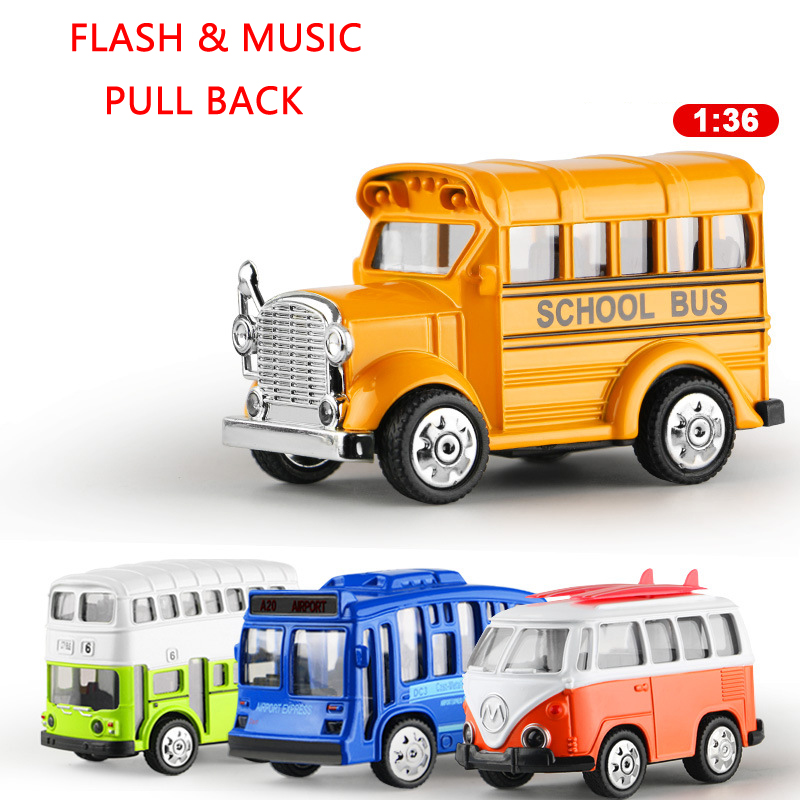 1:36 Diecasting Metal Double-Decker Bus Flash Music Pull Back Simulation Cars Model Toys For Children Kids Gifts Toys Cars Model(China (Mainland))