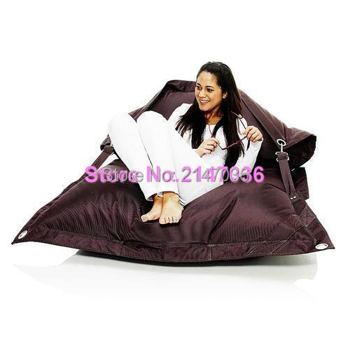 Dark grey color outdoor furniture bean bag chair, Buggle up beanbag sofa seat – Kpecno chair