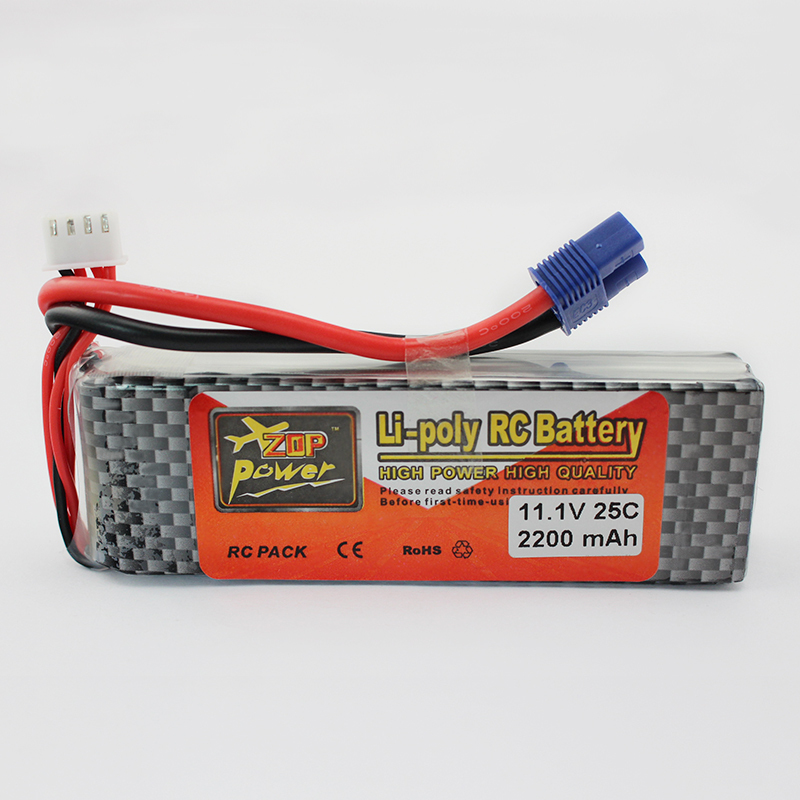 Lipo Battery 11.1V 2200Mah 3S 25C EC3 Plug For RC FPV Helicopter Qudcopter Car Truck Boat Airplane Bateria Lipo Rc Hobby Parts(China (Mainland))