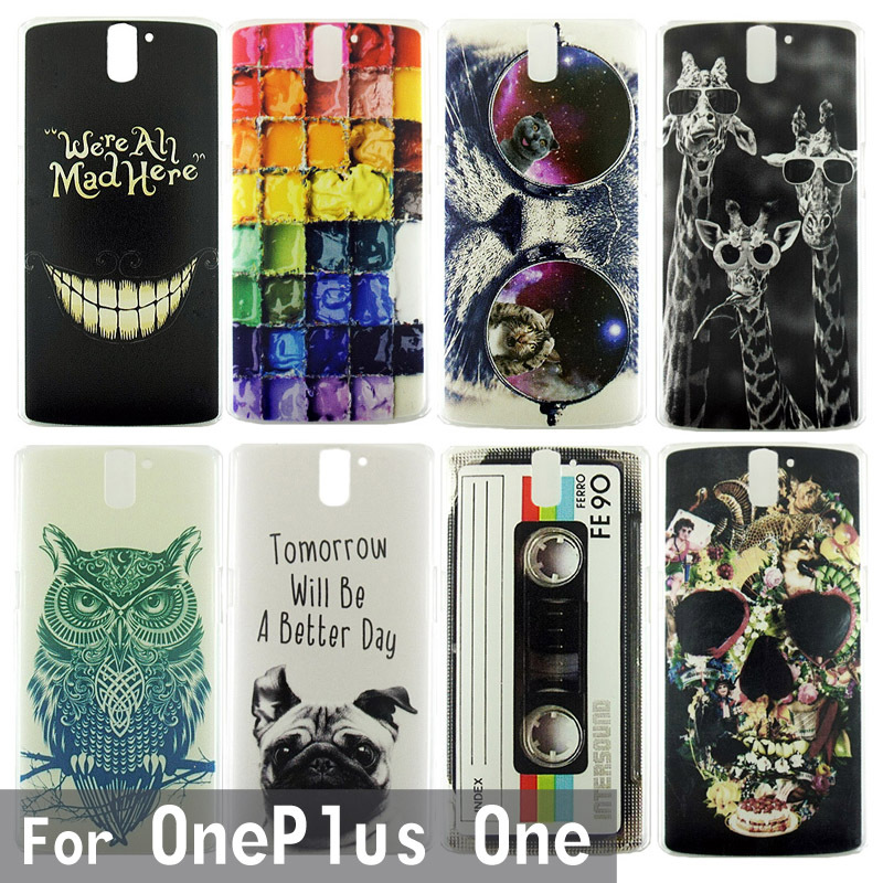 Case For Oneplus One Colorful Transparent Printing Drawing Phone Protect Cover For 1+ Phone Fashion Plastic Phone Shell 0816(China (Mainland))
