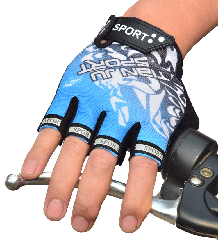 Spring and summer outdoor exercise bike gloves half gloves and Korean car ride(China (Mainland))
