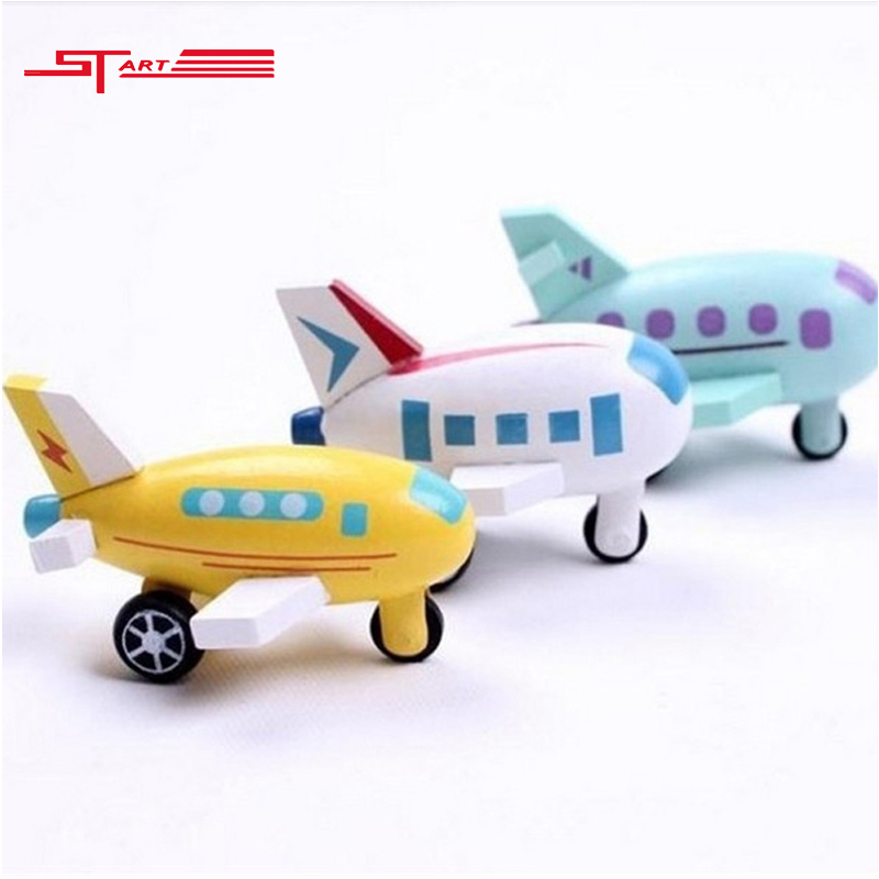 2 Pcs/Lot wooden mini airplane models kit wood plane baby learning & education toys gifts for children Kids hot free shipping(China (Mainland))