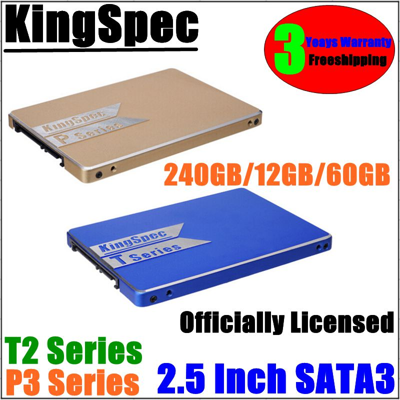 Original KingSpec SSD 240GB/120GB/60GB 2.5 Inch SATA3 6Gbps  Internal Solid State Drive 3Yesr Warranty Hard Drive factory Outlet<br><br>Aliexpress