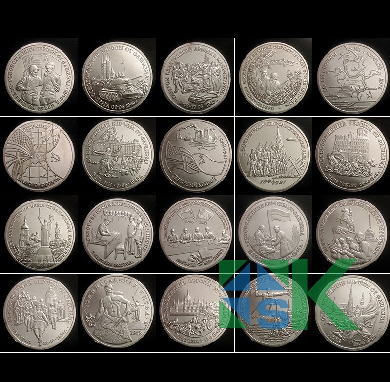 produto whole sale!20 pcs / lot WW2 50th anniversary of victory Russian 3 ruble coin 1939-1945 nickel rubles coin free shiping!