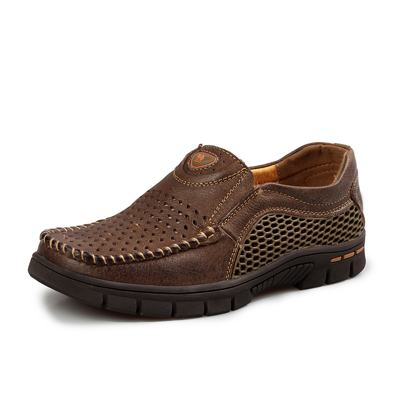 men Genuine Leather shoes flats Comfortable Casual Luxury office oxfords sapato heremart size 38-46