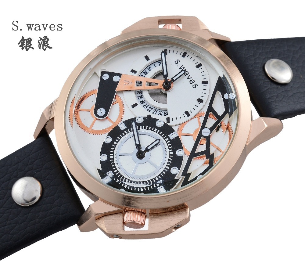 2015 New s.eaves Dieseler Wristwatch Strap Casual Fashion Reloj Mujer Reloj Mujer Reloj Double time Luxury Date Quartz(China (Mainland))