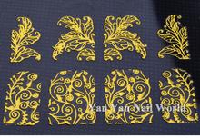 New Gold 3D Nail Stickers 108pcs sheet Metallic Adesivos Mix Designs Flowers Nail Decal Beauty Creative