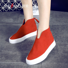 2016 New Summer Fashion Casual Women Shoes Flat With Genuine Leather Lightweight High Top Shoes Free Shipping Discount 35-39(China (Mainland))