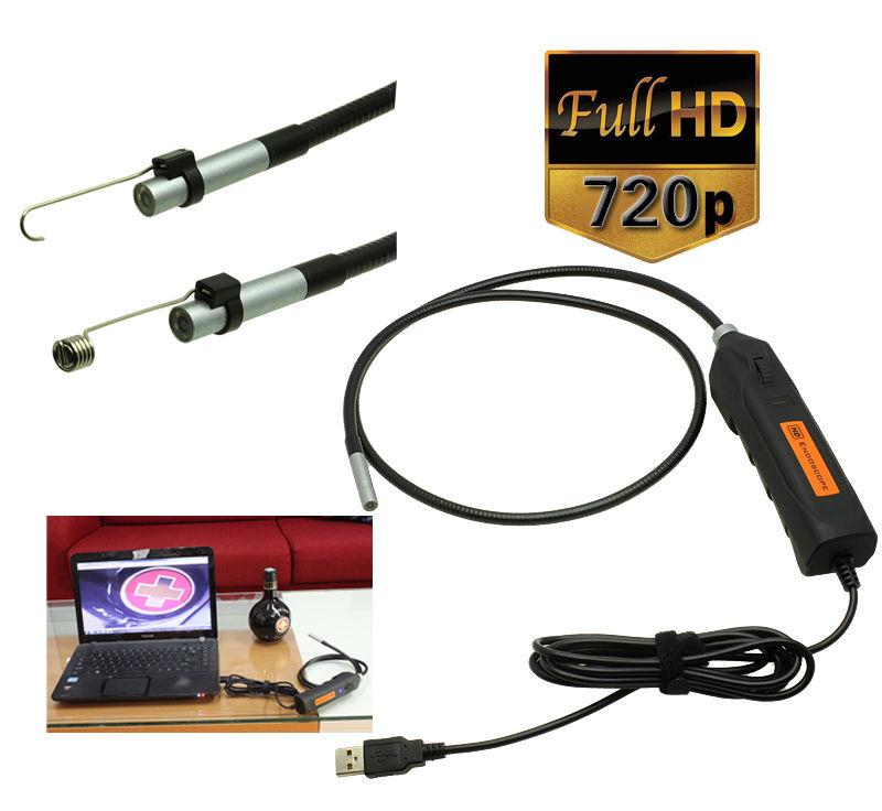 Handheld HD 2 Mega Pixels USB Endoscope Borescope Inspection Snake Tube Camera(China (Mainland))
