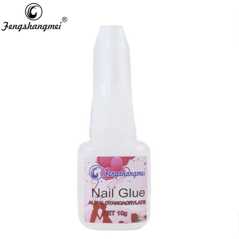 Fengshangmei False Nail Glue With Brush 10g Nail Art Rhinestones Decoration Manicure Tools(China (Mainland))