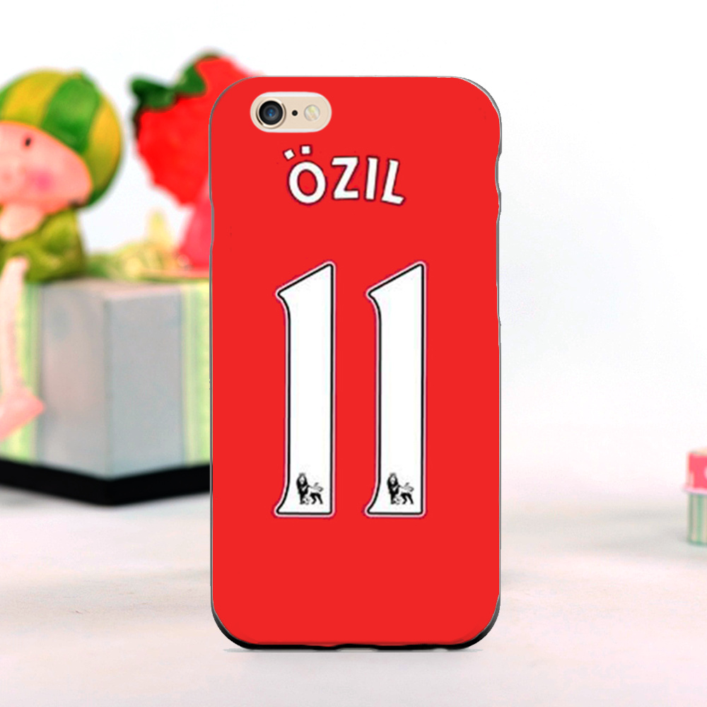 Mesut Ozil Arsenal Football Kits mobile phone Cases for iphone 5s 4s 4c 6 6plus and Case for Samsung S3 S4 S5 S6 S7 Note 2 3 4 5(China (Mainland))