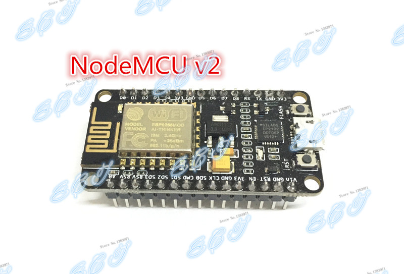 Official original only V2,not V3!Esp8266 NodeMCU v2 Lua WIFI network development kit board based on ESP-12E amica  genuine(China (Mainland))