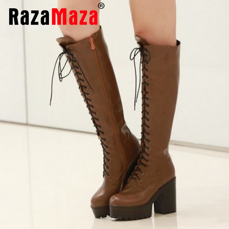 CooLcept Free shipping over knee high heel boots women snow fashion winter warm shoes boot P15636 EUR size 34-43<br><br>Aliexpress