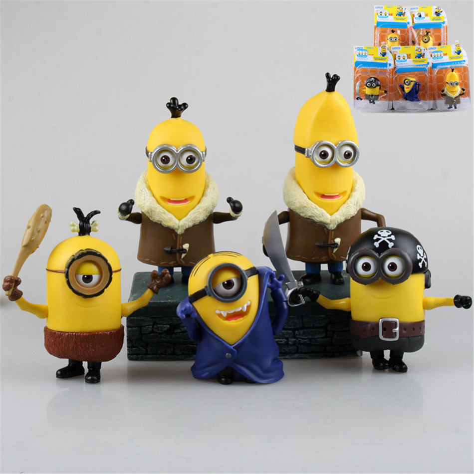 POP Toy Set 5PCS/set Minions toys yellow doll 3D eyes peluche Minion despicable me 2&amp;3 Kid Toys Boxed&amp;OPP for Children Gift 0335<br><br>Aliexpress