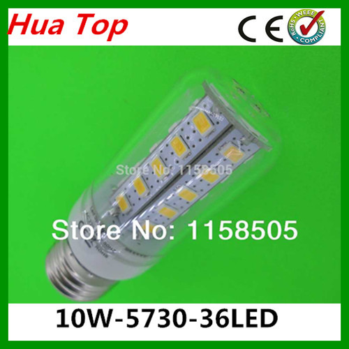 Lampada LED Lamp 5730 epistar SMD 36LED Lamp 10W E27 LED Corn Bulb Cold white /Warm White light solar lustre lamps and lanterns<br><br>Aliexpress
