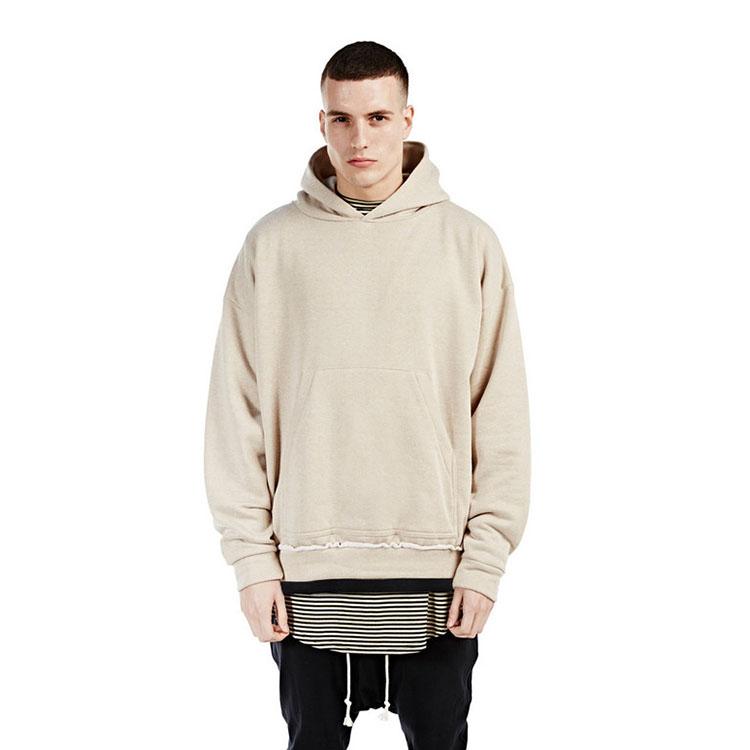streetwear khaki BEIGE kanye west yeezy men hoodies pullover oversized hood hoodie kpop clothes mens urban represent clothing(China (Mainland))