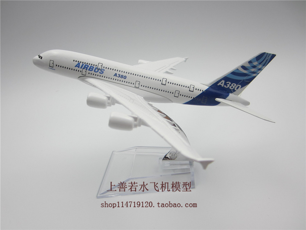 16cm Airplane Plane Model Airbus A380 Airline Aircraft Model Diecasts Vehicles For baby Gift Collection Decoration Free Shipping(China (Mainland))