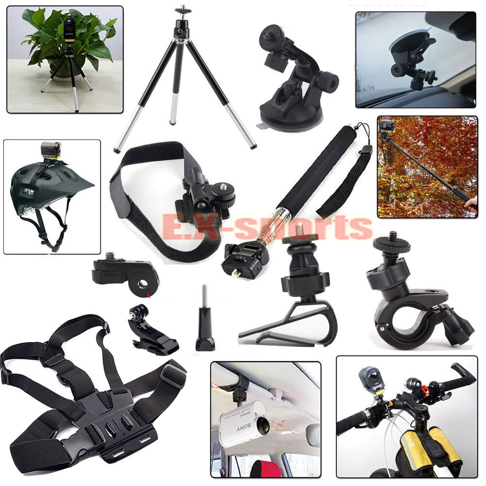 Kit Accessories Mount Kit for Sony Action Cam HDR AS15 AS20 AS30V AS100V AZ1 mini FDR-X1000V/W 4 k <br><br>Aliexpress