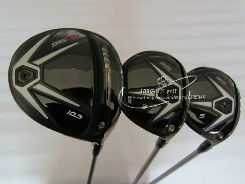915 D3 wood set Golf Driver 9.5*/10.5* and 915F Fairway Woods 15*/18* With Diamana 50 Graphite Shafts Golf Headcovers 3pcs(China (Mainland))