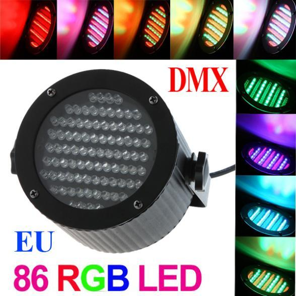 25W 86 Leds RGB 4 Channel DMX 512 Control Laser Projector Stage Light Party Disco DJ Stage Lighting 90-240V Drop Shipping