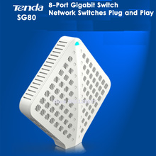 Tenda SG80 8 Port Ethernet Gigabit Switch 1000Mbps Network Switch HUB RJ45 Network Switches Plug and Play Switching Capacity(China (Mainland))