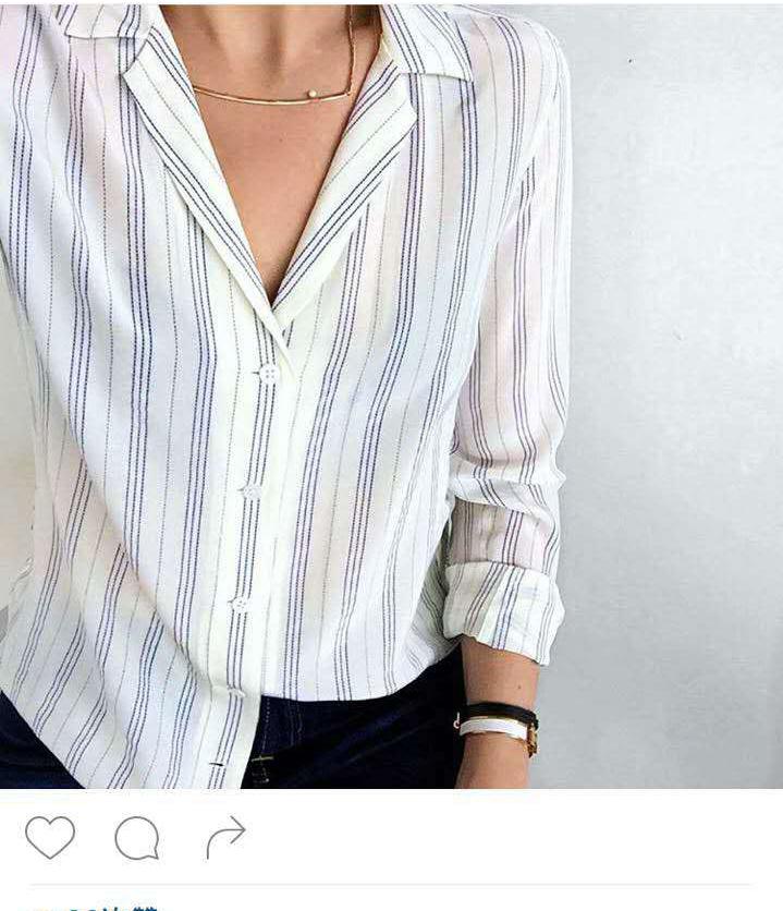 EQ 100% real silk striped women long sleeve shirts Equipment ladies two pockets silk blouses spring summer(China (Mainland))