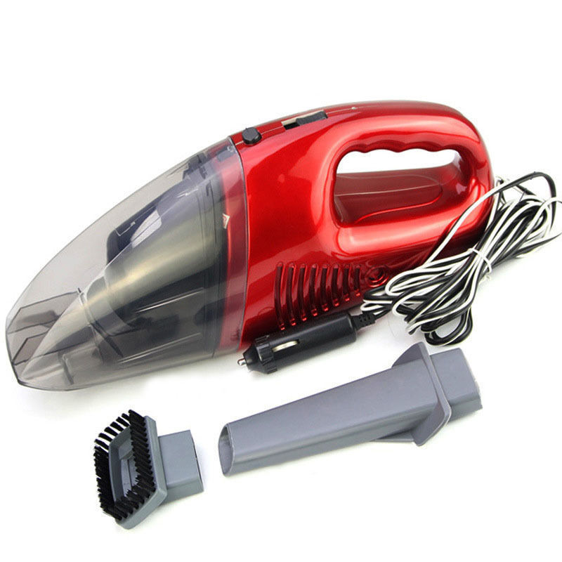 2015 New Mini Red Clear Car Vacuum Cleaner Portable Handheld Wet/Dry 12V 25W 11ft Cable Free Shipping(China (Mainland))