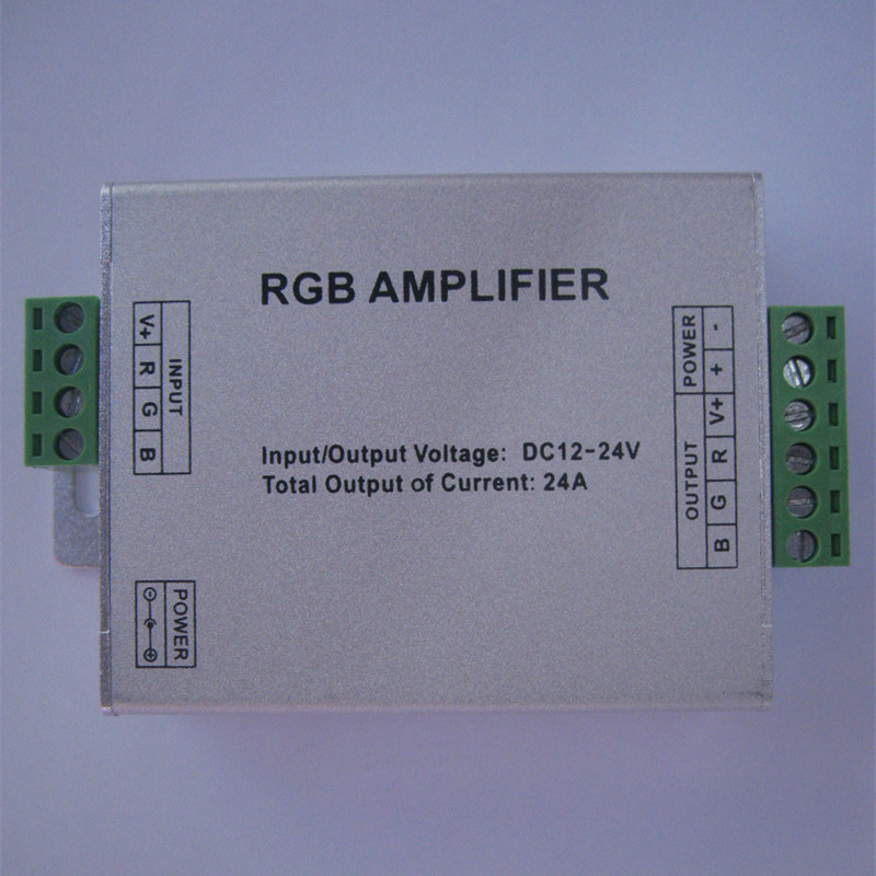 LED RGB Amplifier DC12-24V Input 24A Current Apply 3528 5050 SMD RGB LED RGB Amplifier(China (Mainland))