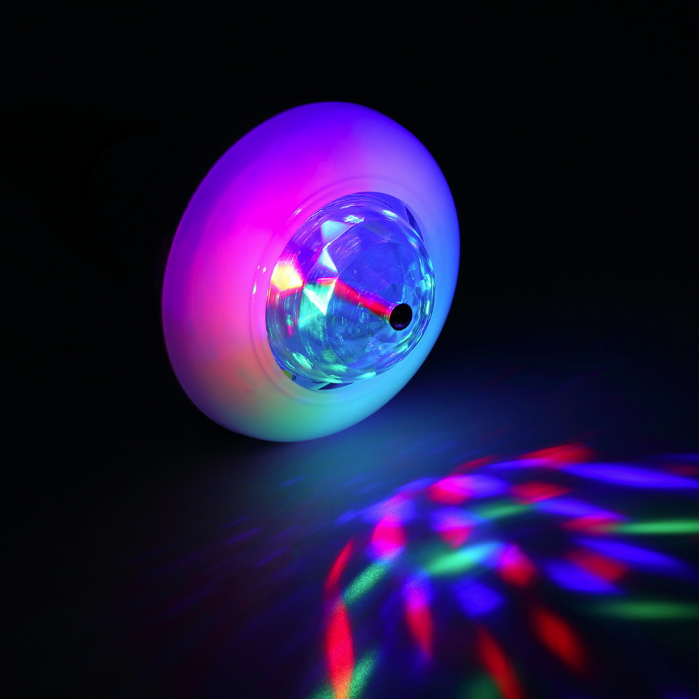 E27 3W Colorful Auto Rotating RGB LED Bulb Multifunction Crystal Stage Light Bulb Lighting For Party Club Home Decor Lamp Disco<br><br>Aliexpress