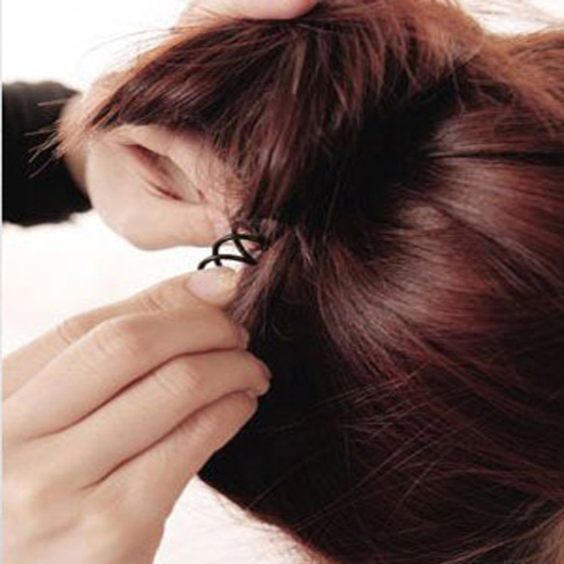 10Pcs Girls Stylists Pro Womens Spiral Spin Screw Girl Hair Accessories Twist Hair Clips Black Hairpins A Hair Clip For Women(China (Mainland))