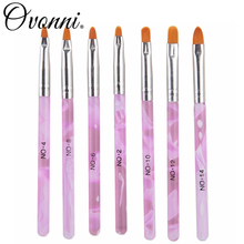 7pcs Professional Portable Acrylic Nail Art Brush Set Painting Pen for False Nail Tips Nail Art Decorations Brush Set(China (Mainland))