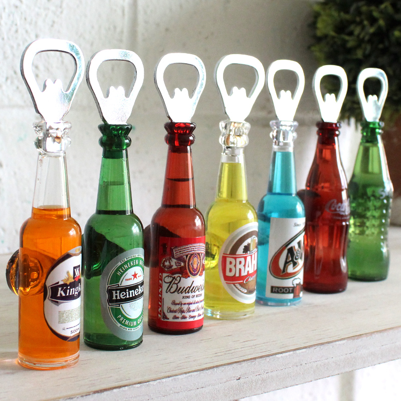 New arrival home personal home beer bottle opener vintage refrigerator stickers decoration home decor and kitchen tool(China (Mainland))