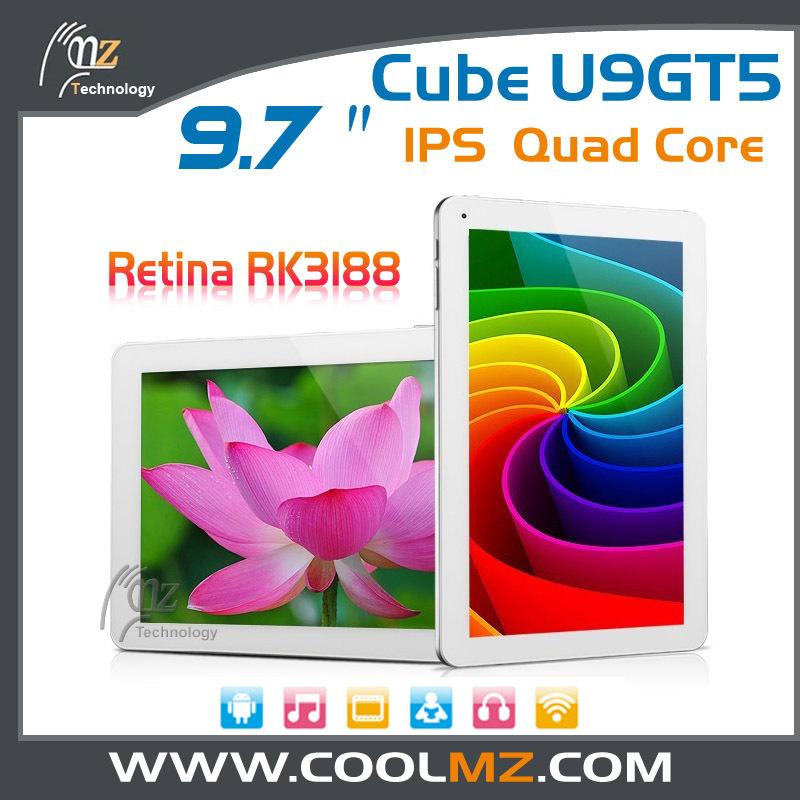 9.7inch Cube U9GT5 U9GTV RK3188 Quad Core Tablet PC IPS Retina Screen 2048x1536px 2GB RAM 16GB ROM Android 4.1 Dual Camera(China (Mainland))