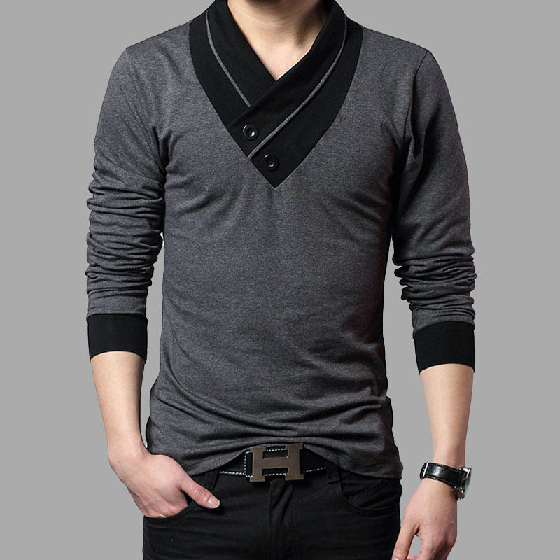Free shipping 2015 new mens autumn fashion mant shirt for Mens t shirts free shipping