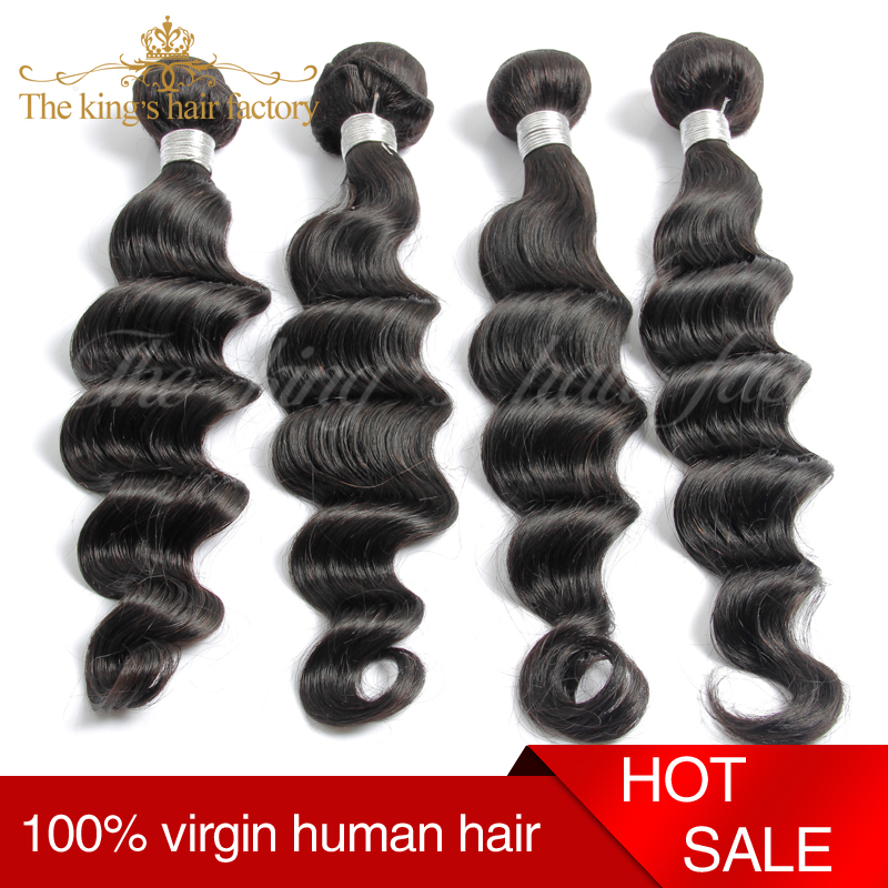 Ali Express Hot Selling Products Queens Hair Products 2015 New Arrival On Sale Cheapest Brazilian Virgin Hair Loose Wave Deep(China (Mainland))