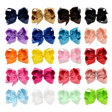 Buy 20pcs/lot 6Inch Large Hair Bows Fashion Girls'Hair Accessories Hair Clip Boutique Bows Hairpins Hair Grip Grosgrain Ribbon bows for $13.21 in AliExpress store