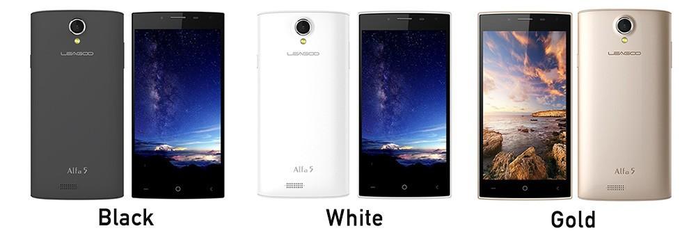 Original Leagoo Alfa 5 ALFA5 SC7731 Quad Core Mobile Phone 5.0
