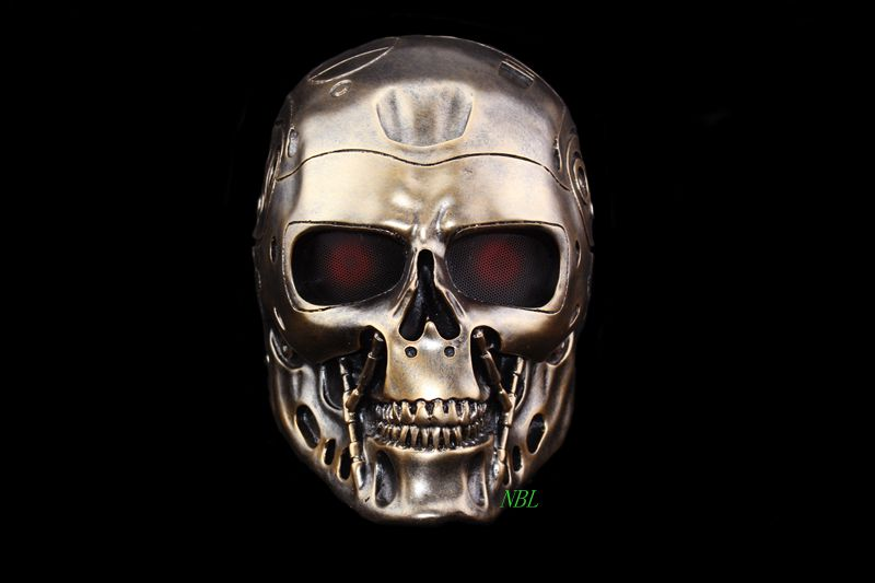 Full Face Terminator Skull Airsoft Mask Collector's Edition Halloween Masquerade Party Cosplay Outdoor Paintball Game Props(China (Mainland))