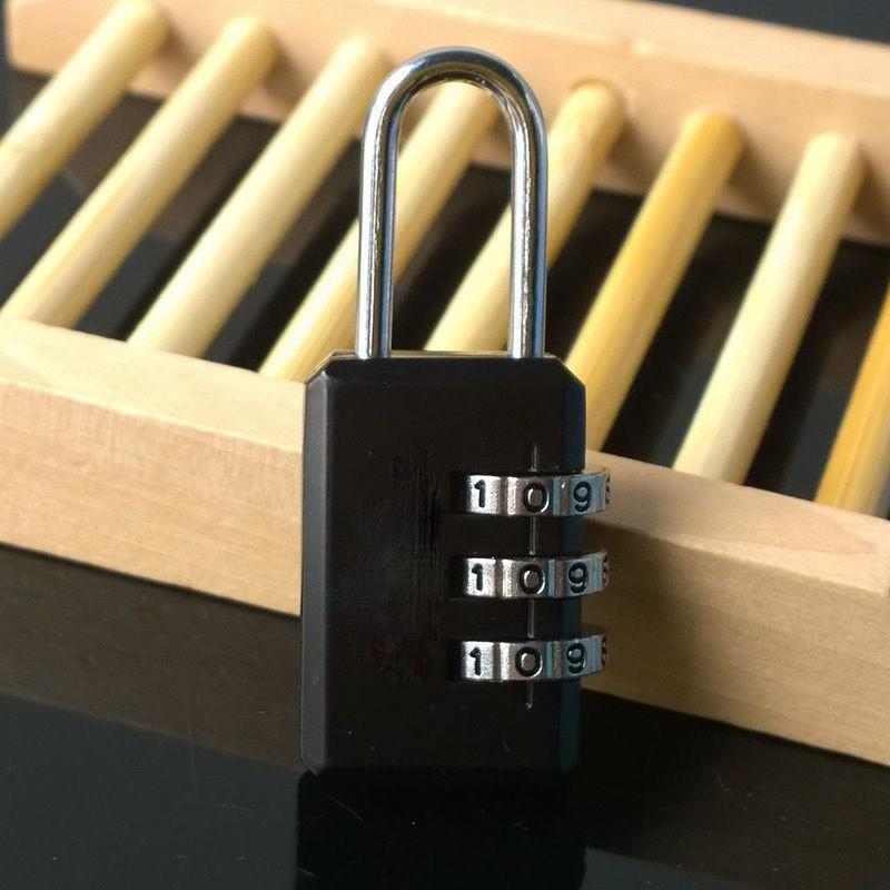 3 Digit Dial Combination Suitcase Luggage Metal Code Password Lock Padlock K88