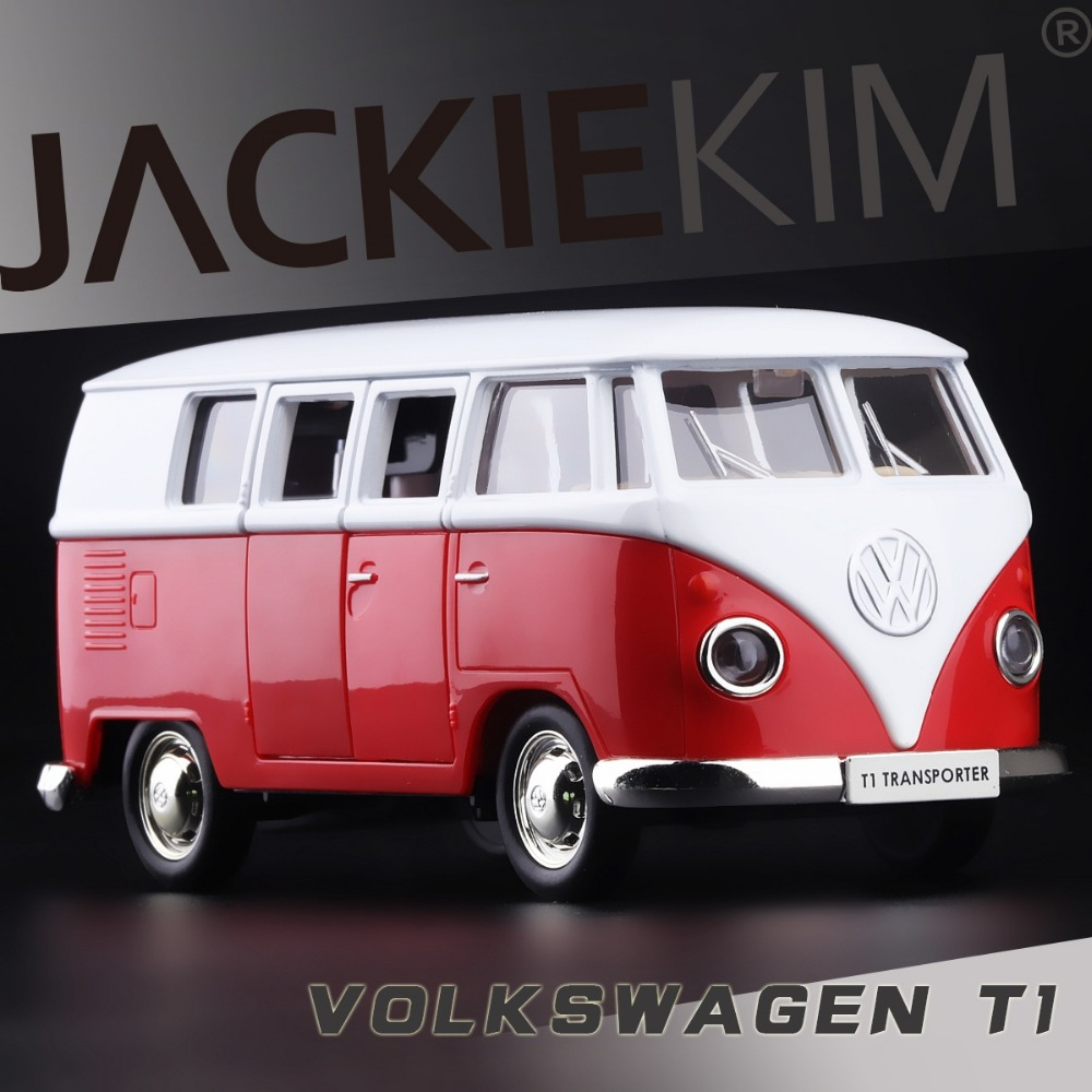 High Simulation Exquisite Model Toy Car Styling Volkswagen Van Retro Print T1 Bus Alloy Bus Model Excellent Gifts Free Shipping(China (Mainland))