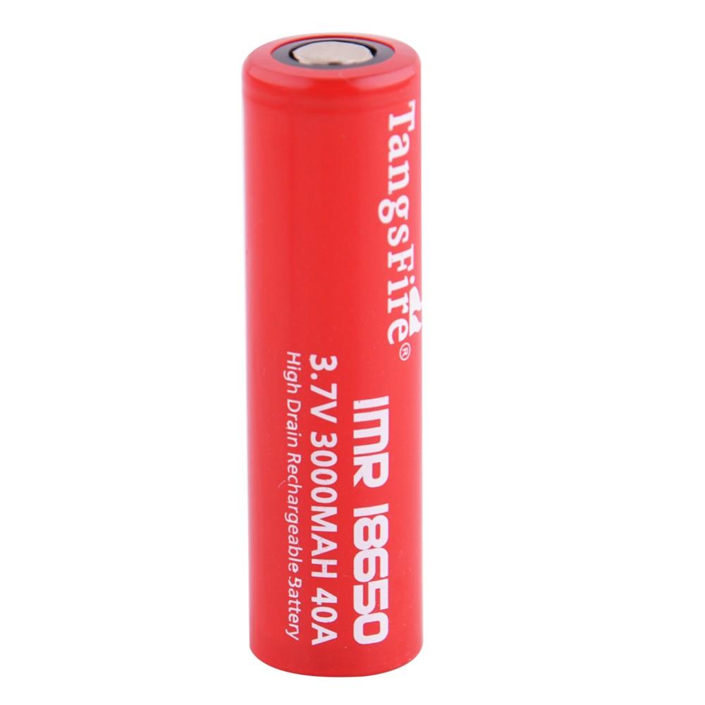 ถูก T angsfire 2ชิ้นIMR 18650เรียบแบตเตอรี่3.7โวลต์40A Li-Mnแบตเตอรี่ชาร์จบุหรี่อิเล็กทรอนิกส์แบตเตอรี่+กล่องพลาสติกDC035
