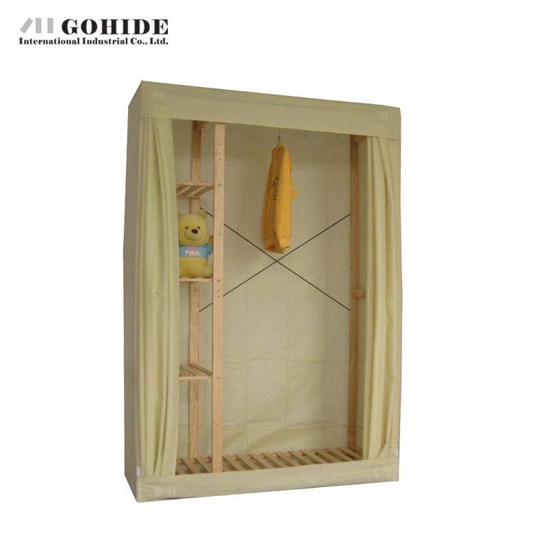 Gohide Savoring Home Non-Woven Wardrobe Solid Wood Simple Wardrobe 950bn Wardrobe Cabinets Simple Folding Reinforcement(China (Mainland))