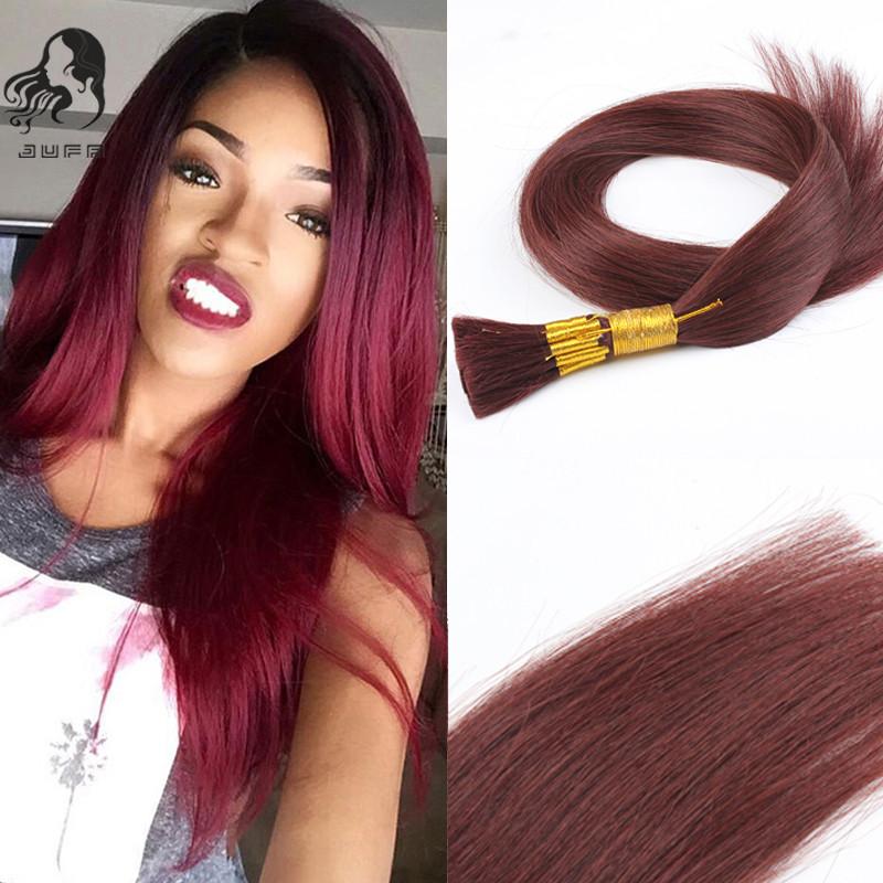 Malaysian Virgin Bulk Hair Extensions no weft Human Hair Bulk for Braiding Remy Straight Bulk Hair #99J Red Wine No Attachment