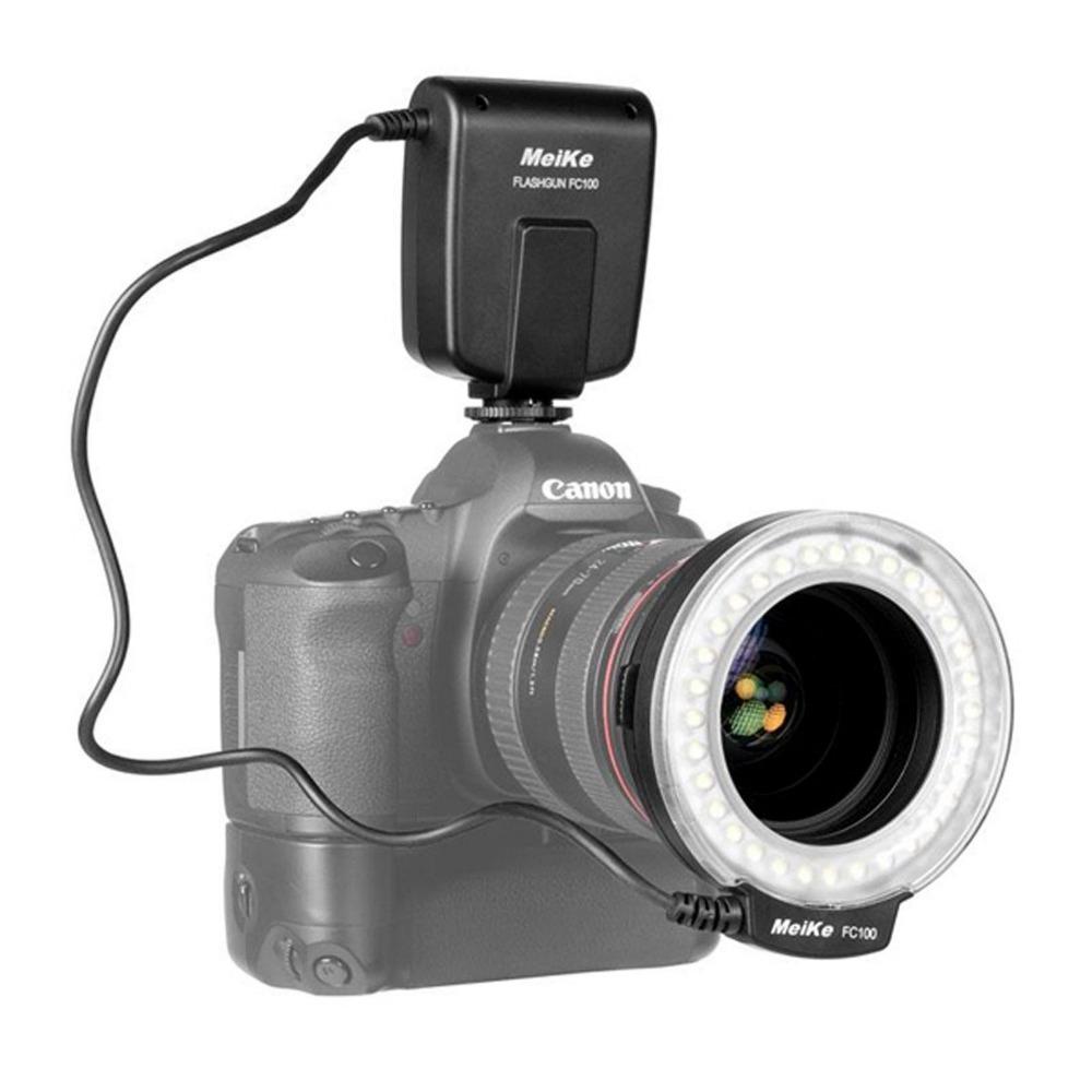 Здесь можно купить  MEIKE LED FC-100 Macro Ring Flash Lens Mounted Flash for Nikon D800 D600 D610 D5200 D3200 D3000 D7000 D80 D90 D6 D60 Camera MEIKE LED FC-100 Macro Ring Flash Lens Mounted Flash for Nikon D800 D600 D610 D5200 D3200 D3000 D7000 D80 D90 D6 D60 Camera Бытовая электроника