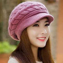 Winter Women Hat Warm Knitted Crochet Slouch Baggy Beret Beanie Hat Cap for women bonnet femme Y1(China (Mainland))