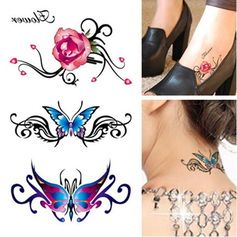 1pcs Sexy Waist Shoulder Water Transfer Tattoos Body Decal Waterproof Temporary Tattoo Sticker Paste Colorful Fake Tattoo Sleeve(China (Mainland))