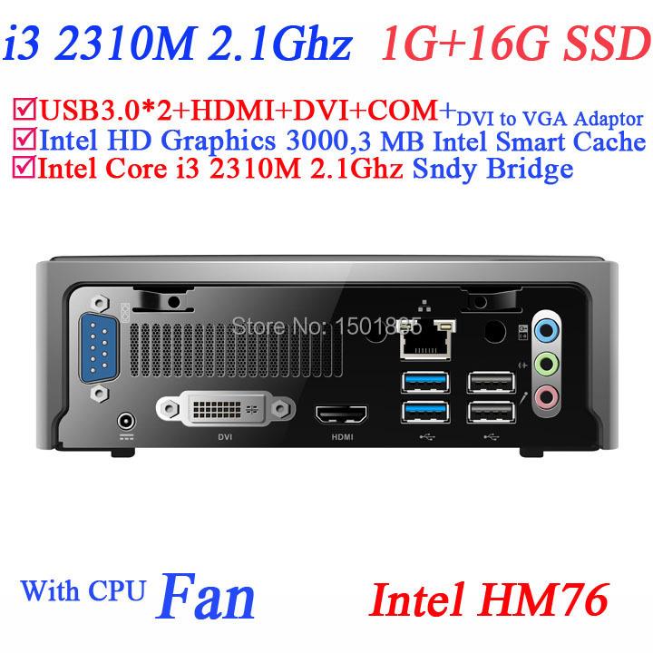 China small computer linux ubuntu mini pc with Intel Core i3 2310M 2.1Ghz 1G RAM 16G SSD(China (Mainland))